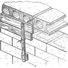 Соединение стен с бетонными перекрытиями