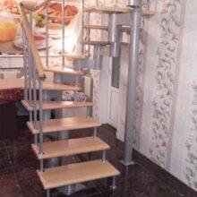 Шесть этапов монтажа лестницы на металлическом каркасе