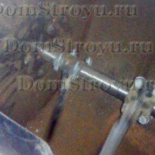 Растворомешалка: установка лопаток и испытание